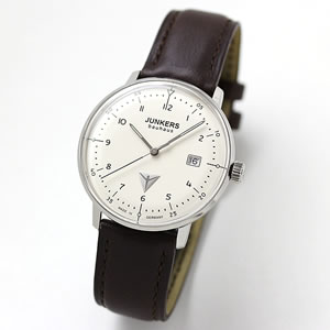 JUNKERS/ユンカース/Bauhaus(バウハウス)/Datum Date/6046-5QZ-203539/クォーツ/腕時計