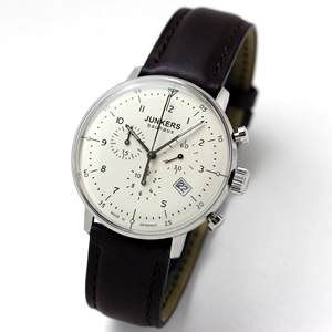 JUNKERS Bauhaus(ユンカース・バウハウス)クロノグラフ クォーツ 6086-5QZ-203547/腕時計