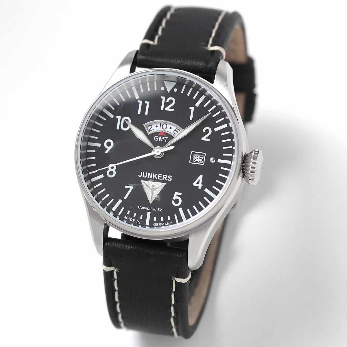 JUNKERS(ユンカース)/Cockpit JU52/クォーツGMT 6140-2QZ/腕時計