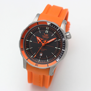 ボストーク・ヨーロッパ/アンチャール/Submarine チタニウムモデル/自動巻き/メンズ/8215-5107173(オレンジ)腕時計
