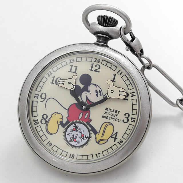 インガソールディズニー ミッキーマウス ZR25834/懐中時計
