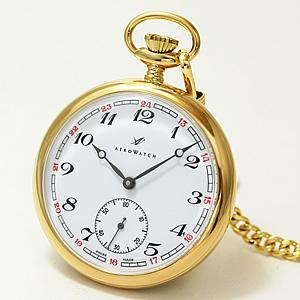 アエロ/AERO/オープンフェイス/ゴールドカラー/50794J302/懐中時計