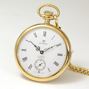 CATOREX(カトレックス)/懐中時計/手巻き式/オープンフェイス/ゴールドカラー/1824.6