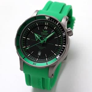 ボストーク・ヨーロッパ アンチャール Submarine チタニウムモデル/自動巻き/メンズ/8215-5107172(グリーン)腕時計
