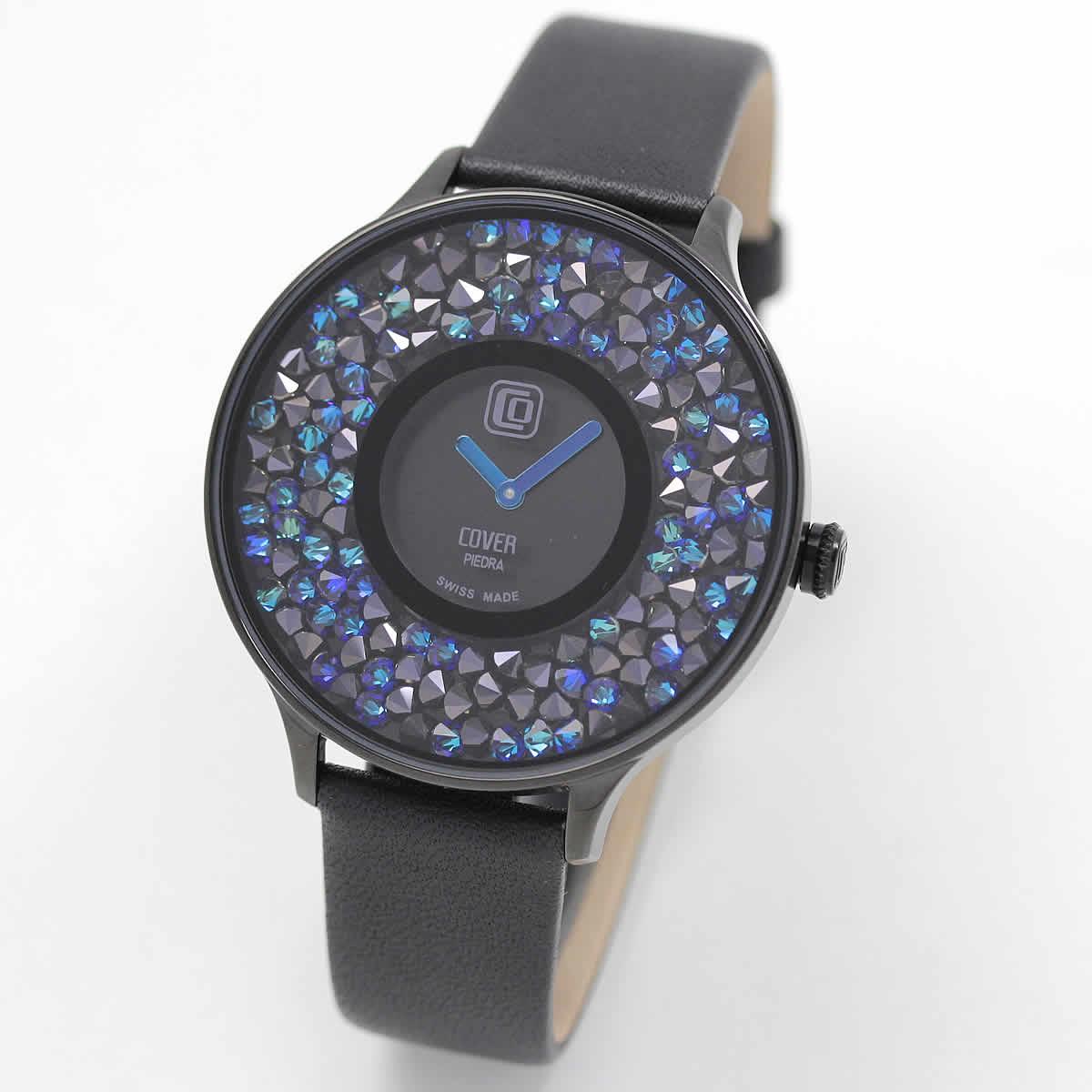 COVER(コヴァー) TREND PIEDRA Co158.04 ブラック 女性用腕時計