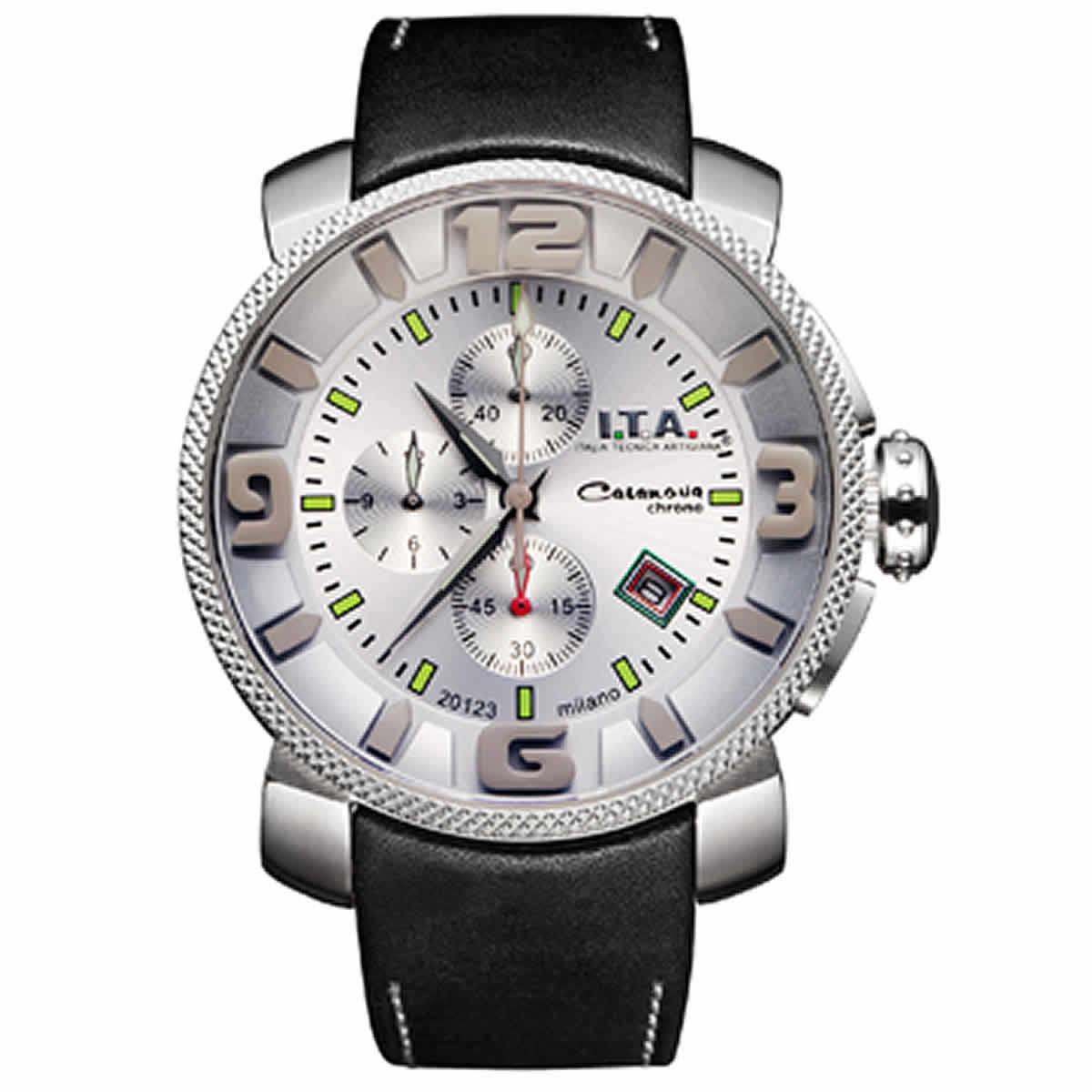 I.T.A.(アイティーエー)/カサノバクロノ日本限定モデル/腕時計/12.70.21 ホワイトシルバー