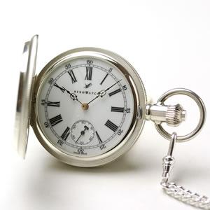 アエロ(AERO)/懐中時計/ハンターケース/手巻き式/銀無垢/55655A901