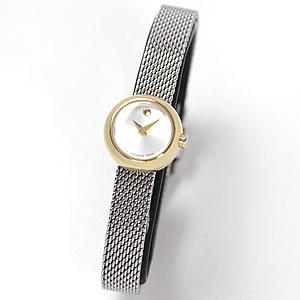 在庫セール 1点限り 54,000円OFF! MOVADO(モバード)Dot(ドット)女性用腕時計 M80.210.1042S/腕時計