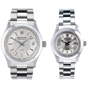 SWISSMILITARY(スイス ミリタリー)ペア腕時計/エレガントプレミアム/シルバー/ML286-ML324