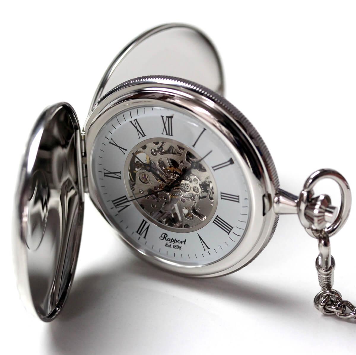 ラポート/Rapport/両開き スケルトンPW97 懐中時計