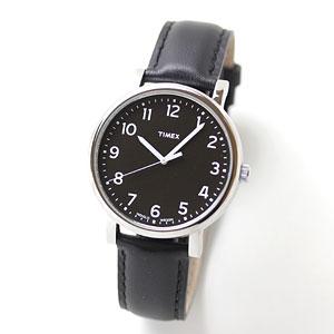 TIMEX(タイメックス)腕時計/モダンイージーリーダー ブラックダイアル ブラックレザー【T2N339】
