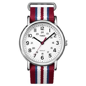 TIMEX(タイメックス)腕時計/ウィークエンダー セントラルパーク/ホワイト×レッド・ブルー・ホワイト【T2N746】