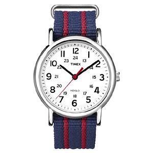 TIMEX(タイメックス)腕時計/ウィークエンダー セントラルパーク ホワイト×ネイビー・レッド【T2N747】