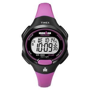 TIMEX(タイメックス)腕時計/アイアンマン 10ラップ ミッドサイズ ブラック/ピンク【T5K525】