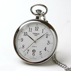ティソ/TISSOT/オープンフェイス/クォーツ式/ユングフラウ鉄道生誕100周年記念モデル/T82.6.554.12 懐中時計