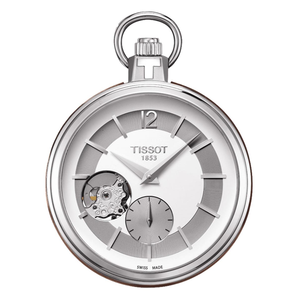 TISSOT/ティソ/オープンハート/ブラウンレザー/T854.405.19.037.00 懐中時計