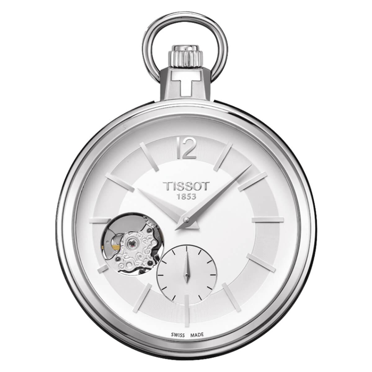 TISSOT/ティソ/オープンハート/ブラックレザー/T854.405.19.037.01 懐中時計