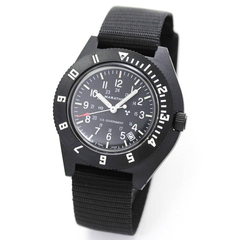 MARATHON(マラソン) ナビゲーター デイト パイロット クォーツ ブラック 1024-0000701-B 腕時計