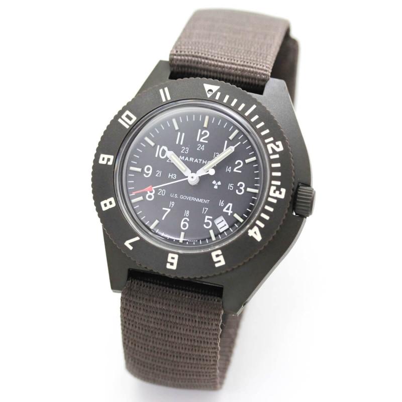 MARATHON(マラソン) ナビゲーター デイト パイロット クォーツ セージグリーン 1024-0000701-S 腕時計