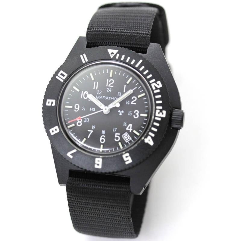 MARATHON(マラソン) ナビゲーター デイト ステライル クォーツ 1024-0194013-b 腕時計