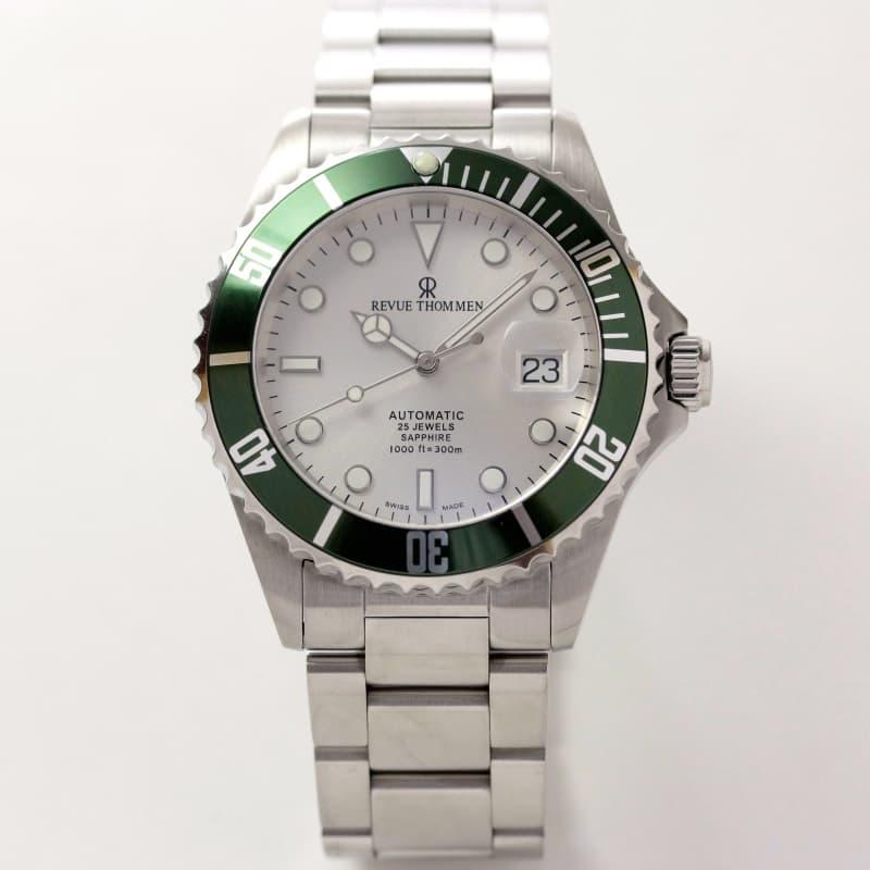 レビュートーメン(REVUE THOMMEN)/ダイバーズウォッチ/グリーンベゼル/17571.2124 腕時計