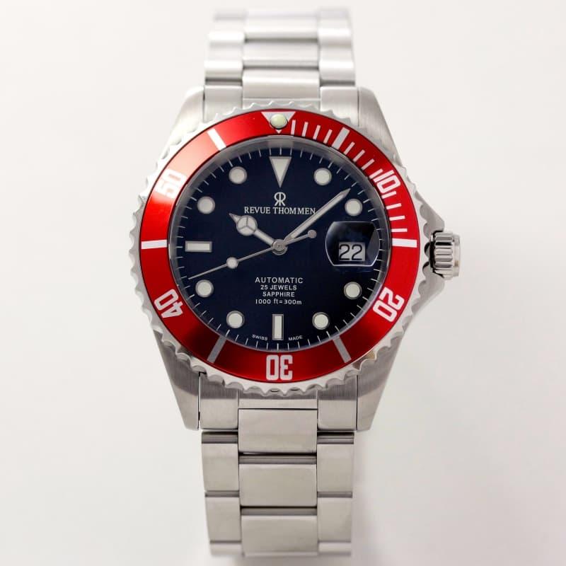 レビュートーメン(REVUE THOMMEN)/ダイバーズウォッチ/レッドベゼル/ブラック文字盤/17571.2136 腕時計