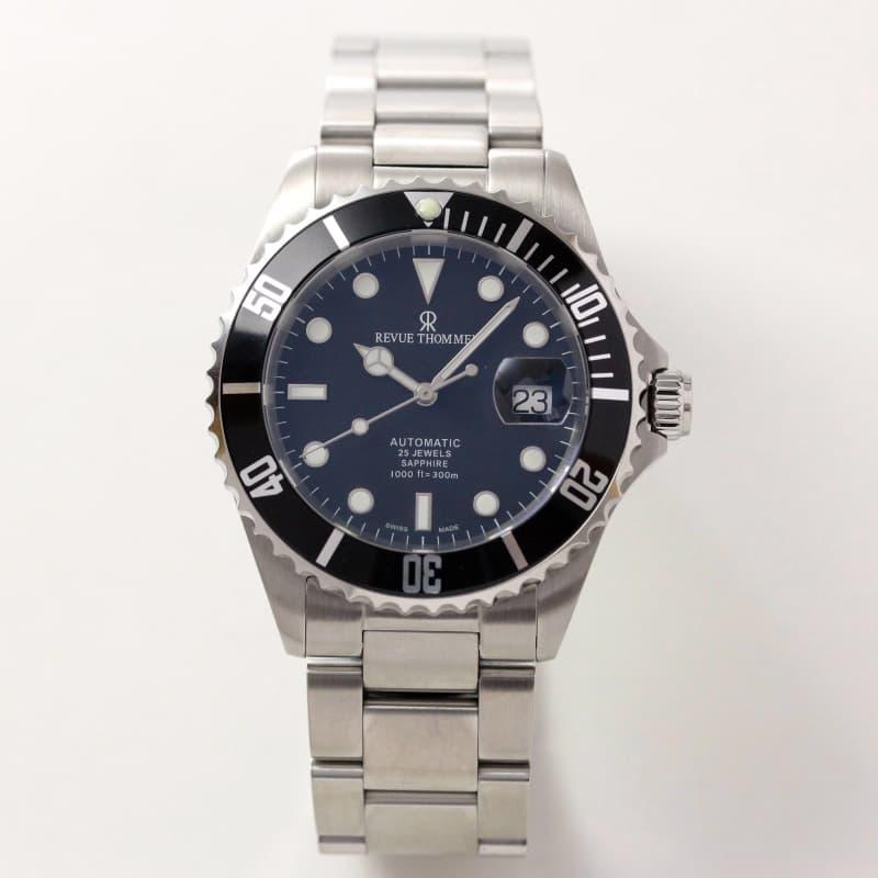 レビュートーメン(REVUE THOMMEN)/ダイバーズウォッチ/ブラックカラー/17571.2137 腕時計