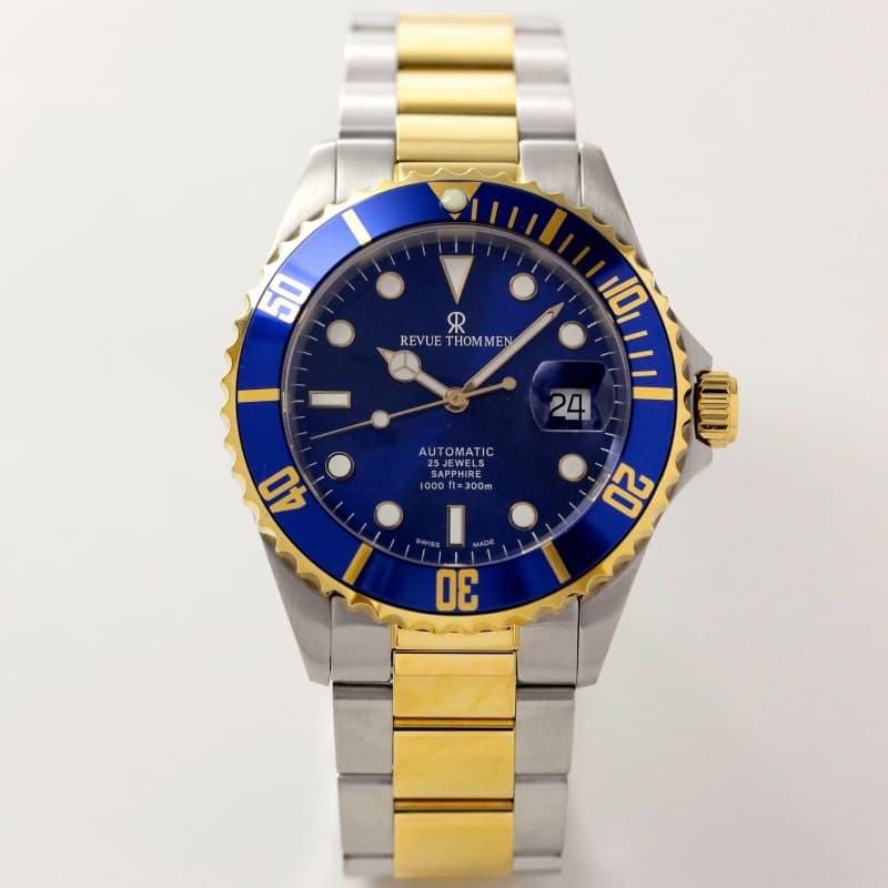 レビュートーメン(REVUE THOMMEN)/ダイバーズウォッチ/ゴールドとシルバーのコンビカラー/17571.2145 腕時計