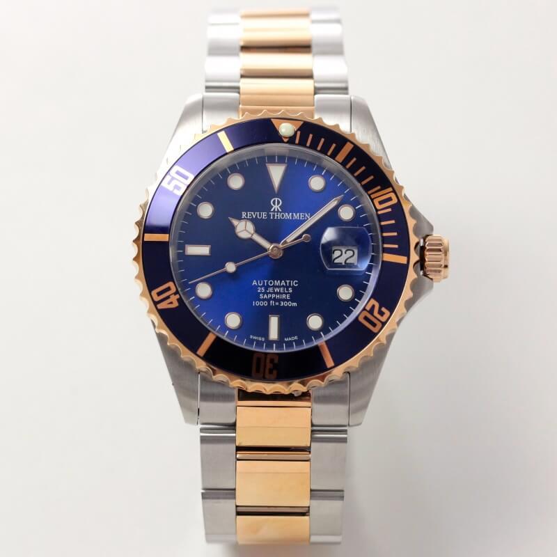 レビュートーメン(REVUE THOMMEN)/ダイバーズウォッチ/ピンクゴールドとシルバーのコンビ/17571.2155 腕時計