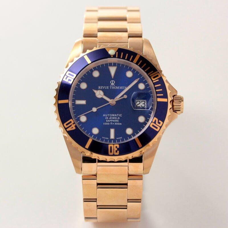 レビュートーメン(REVUE THOMMEN)/ダイバーズウォッチ/ピンクゴールドカラー/17571.2165 腕時計