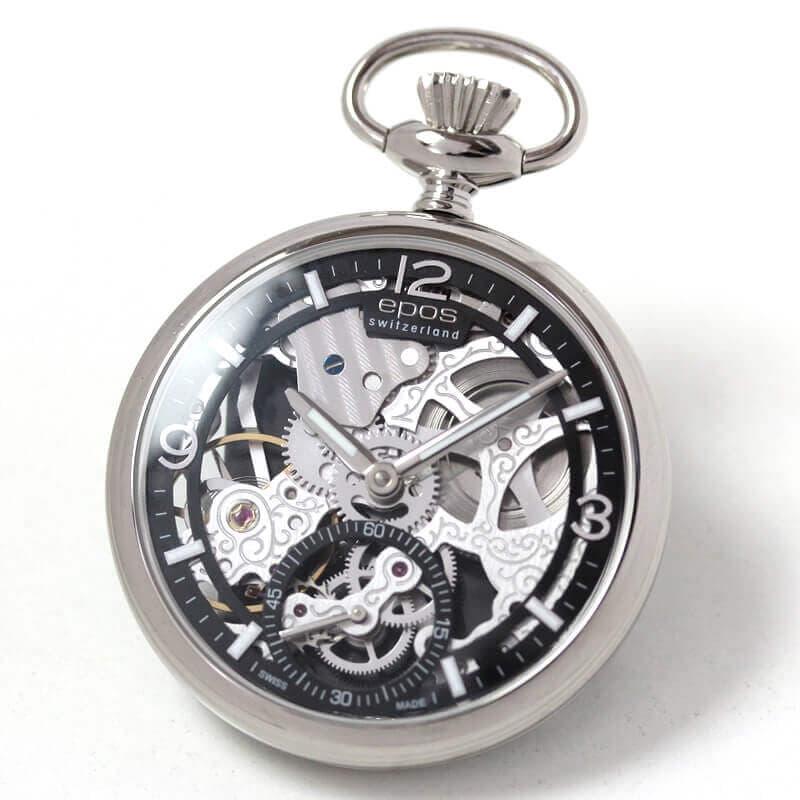 エポス(EPOS) フルスケルトン懐中時計2003abk