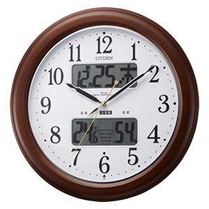 CITIZEN シチズン 環境目安表示機能付電波掛け時計 インフォームナビEX【4fy620006】
