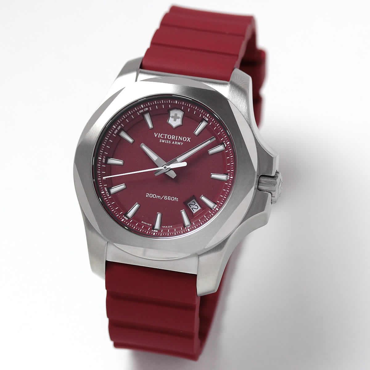 ビクトリノックススイスアーミー I.N.O.X. (イノックス) ラバーベルト/レッド 241719.1 腕時計