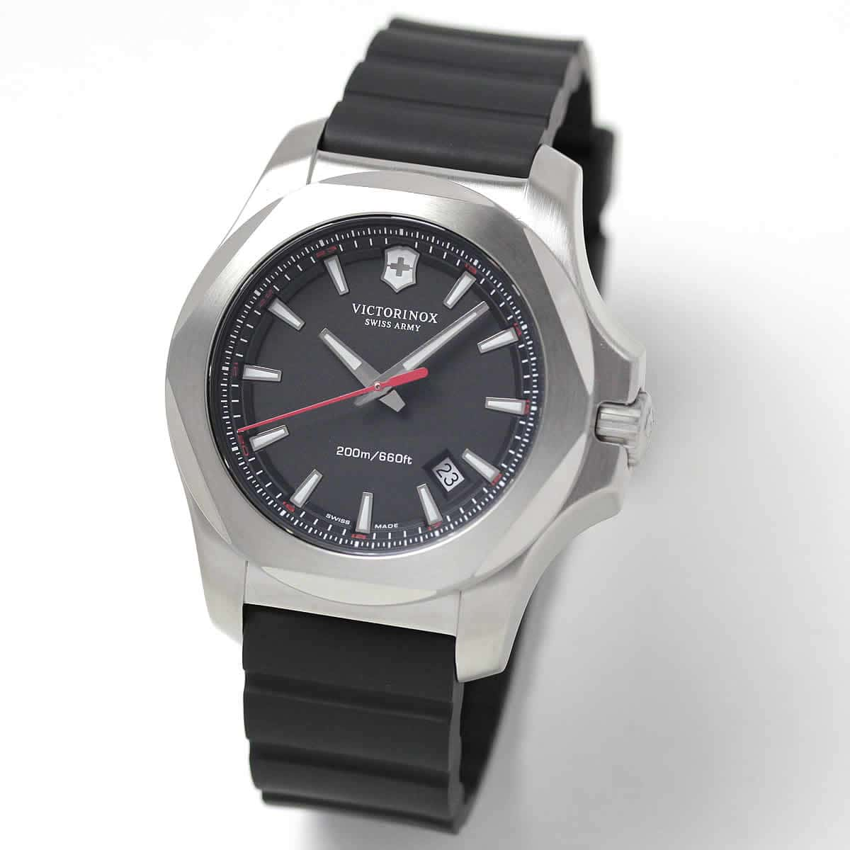 ビクトリノックススイスアーミー I.N.O.X. (イノックス) ラバーベルト/ブラック 241682.1 腕時計