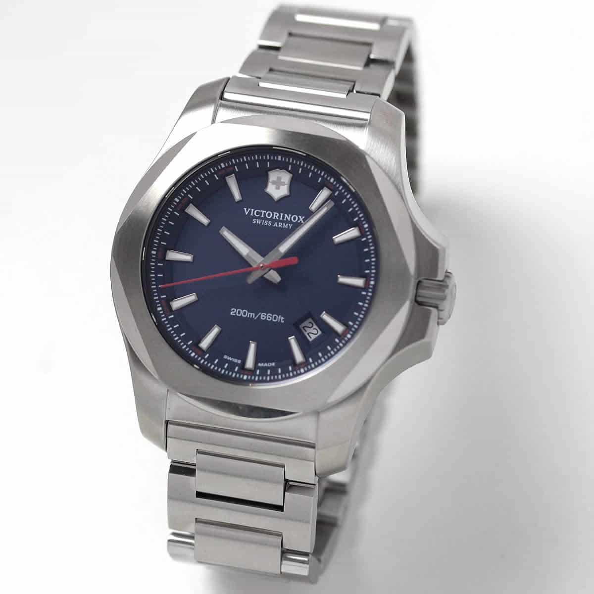 ビクトリノックススイスアーミー I.N.O.X. (イノックス) ステンレスベルト ブルー文字盤 241724.1 腕時計