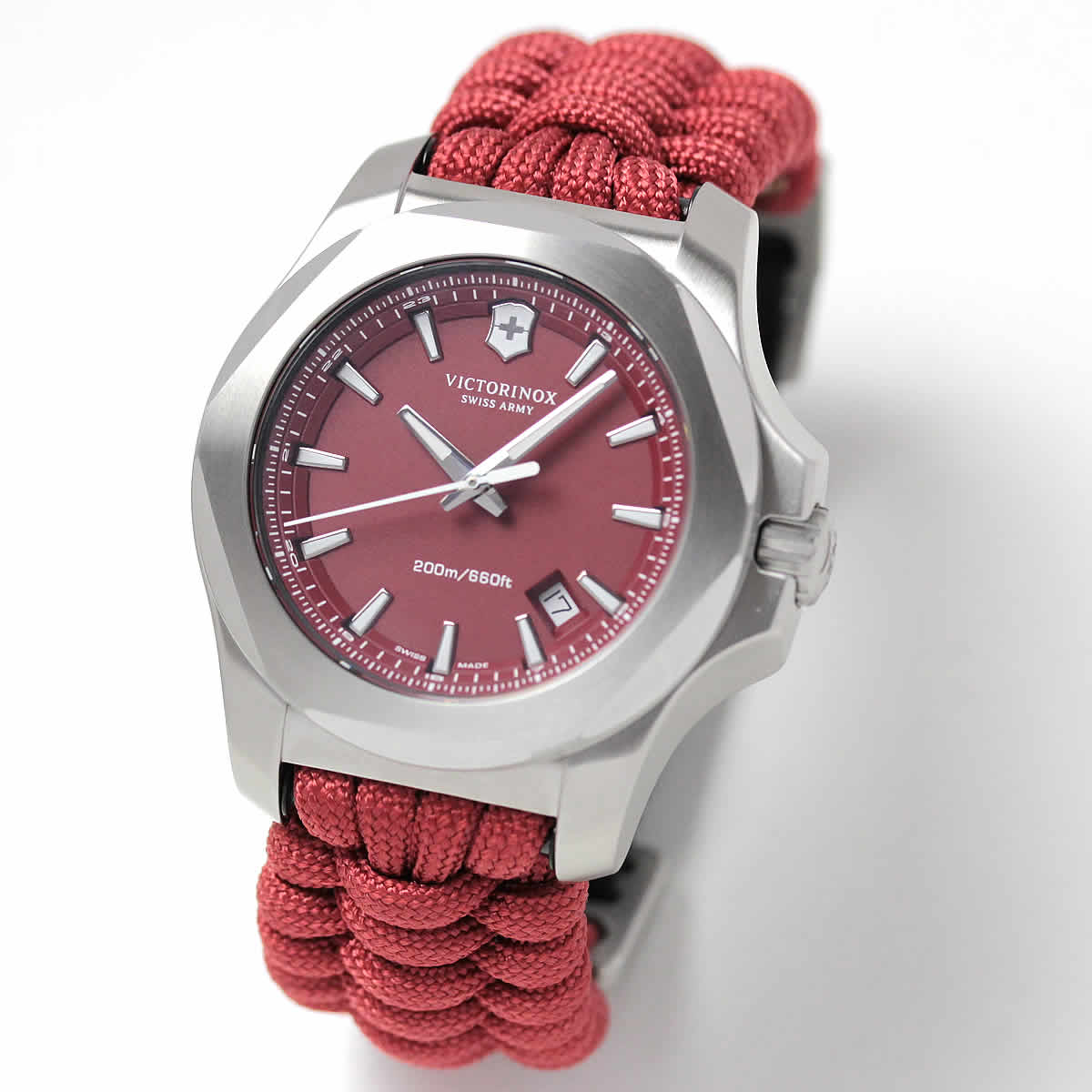 【日本先行発売300本限定】ビクトリノックススイスアーミー I.N.O.X. (イノックス) パラコード レッド 241744 腕時計