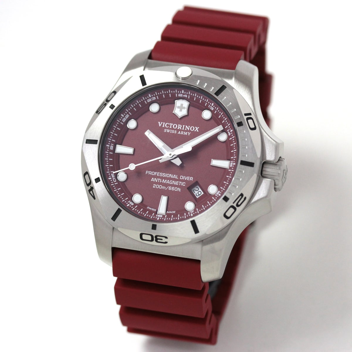 ビクトリノックススイスアーミー I.N.O.X. (イノックス) プロフェッショナルダイバー 241736 レッド 腕時計