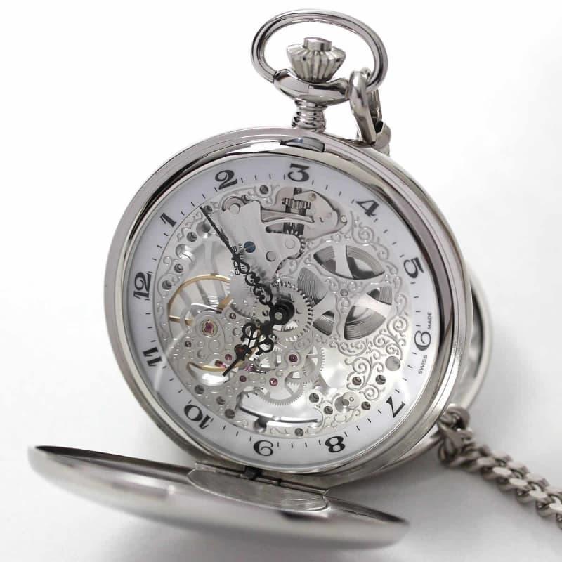 エポス(EPOS)両開き懐中時計 スケルトン 2078P