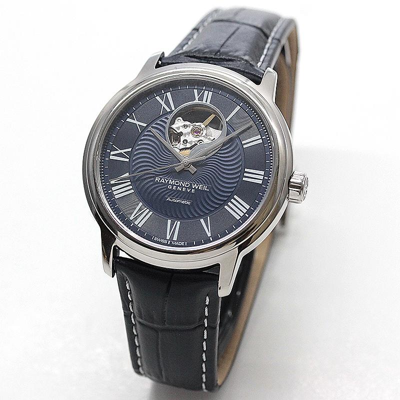 レイモンドウェイル マエストロ(MAESTRO)オープンハート  2227-STC-00508 ブルー レザー 腕時計