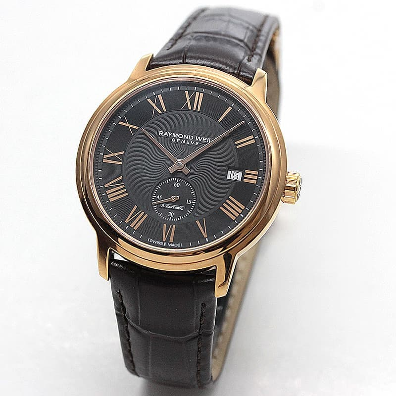 レイモンドウェイル マエストロ(MAESTRO)スモールセコンド  2238-PC5-00209 ブラック ゴールドカラー 腕時計