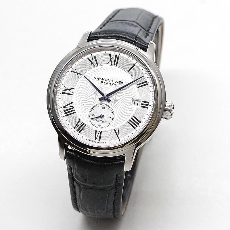 レイモンドウェイル マエストロ(MAESTRO)スモールセコンド 2238-STC-00659 ホワイト レザー 腕時計