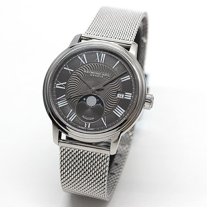 レイモンドウェイル マエストロ(MAESTRO)ムーンフェイズ 2239M-ST-00609 グレー 腕時計