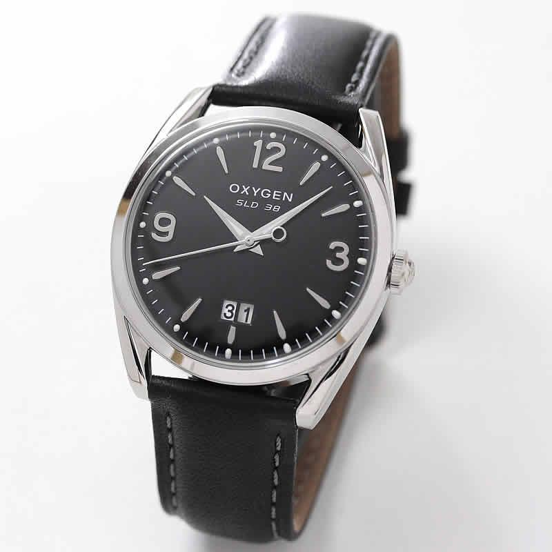 オキシゲン(OXYGEN) スポーツレジェンド38 L-S-WIL-38 メンズ 腕時計 ブラック