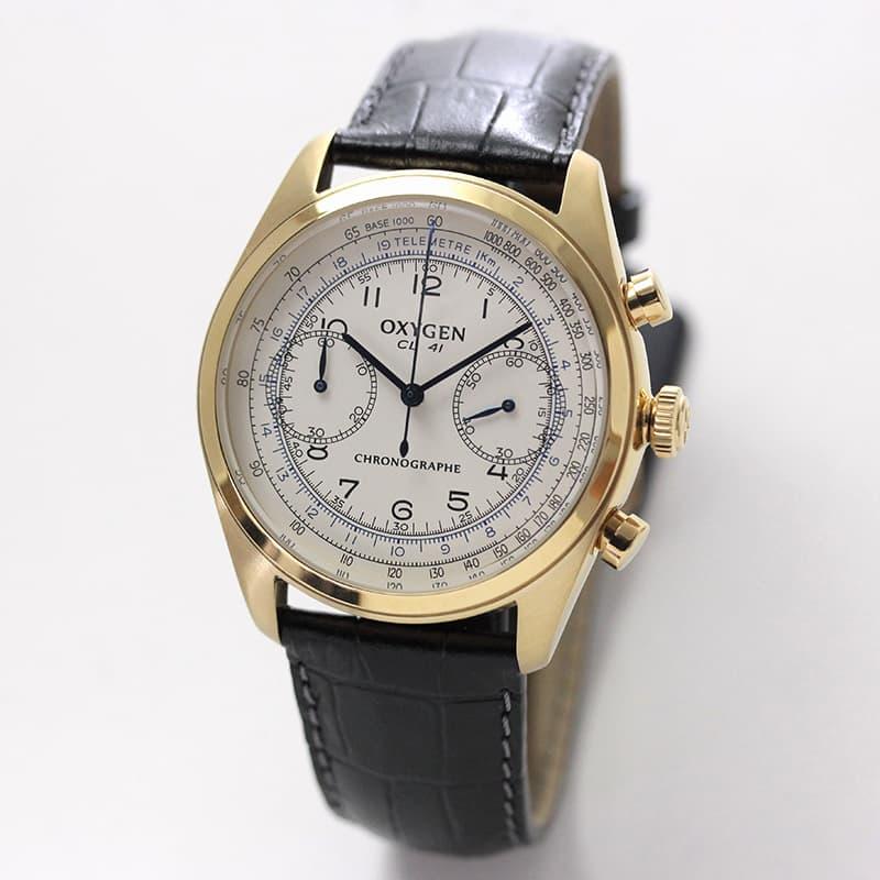 オキシゲン(OXYGEN)クロノ レジェンド 41 L-CH-RUB-41 メンズ クォーツ 腕時計