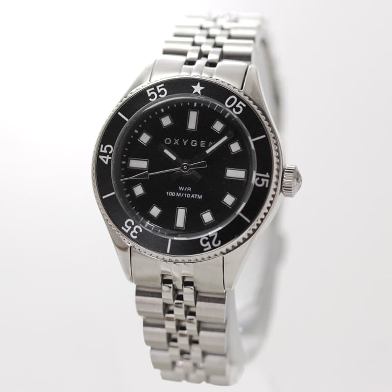 オキシゲン(OXYGEN) LEGEND Diver Mini L-DM-OTA-26 女性用 ブラックカラー腕時計