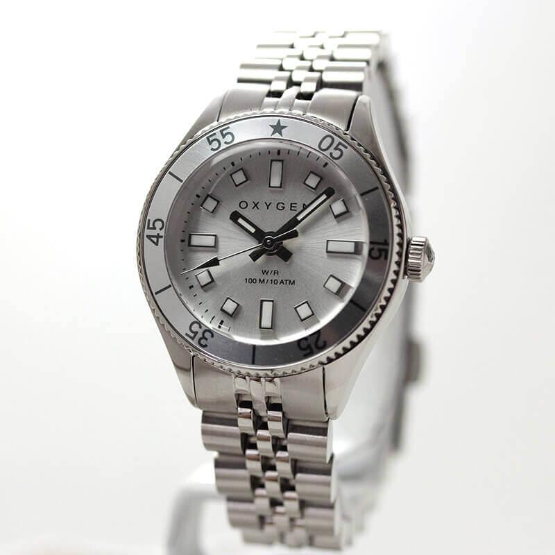 オキシゲン(OXYGEN) LEGEND Diver Minii L-DM-ANE-26 女性用 シルバーカラー腕時計