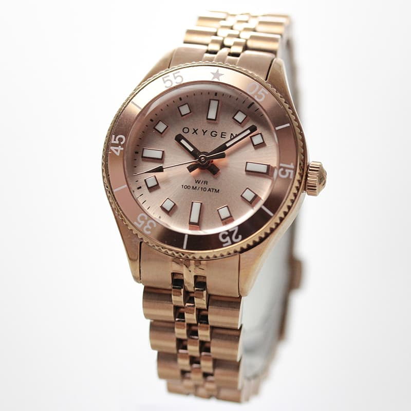 オキシゲン(OXYGEN) LEGEND Diver Mini L-DM-COR-26 Corail 女性用 腕時計