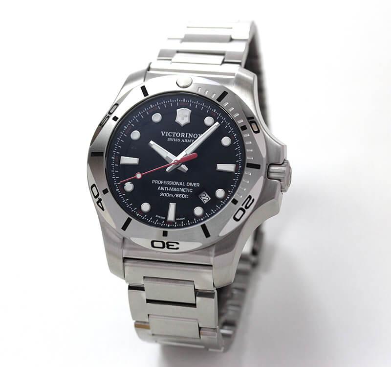 ビクトリノックススイスアーミー I.N.O.X. (イノックス) プロフェッショナルダイバー 241781 ブラック ステンレスベルト 腕時計
