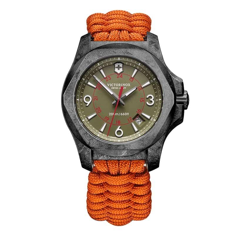 VICTORINOX(ビクトリノックス) I.N.O.X. CARBON(イノックス カーボン) リミテッドエディション/1200本限定/グリーン付替ラバーベルト付属/ 241800.1 腕時計