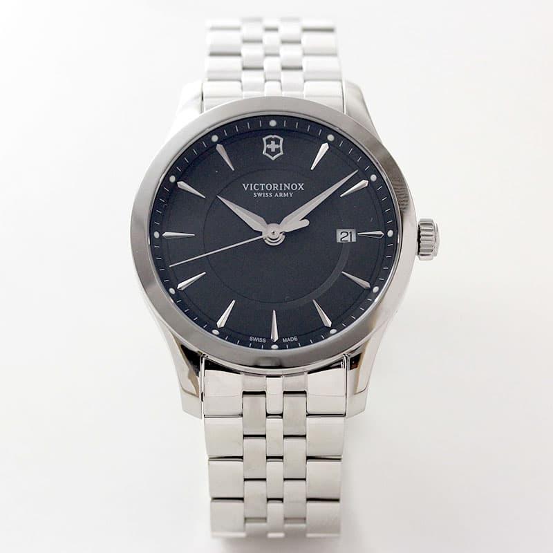 ビクトリノックススイスアーミー/アライアンス 241801/ブラックダイヤル/ステンレスベルト/腕時計